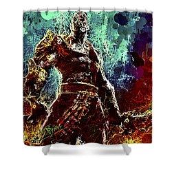 Kratos Shower Curtain