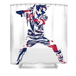 Kris Bryant Chicago Cubs Pixel Art 10 Shower Curtain