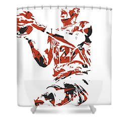 Kris Dunn Chicago Bulls Pixel Art 6 Shower Curtain