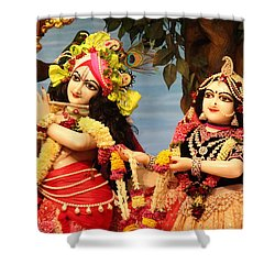 Krishna And Radha At Radha Gopinath Mandir, Mumbai Shower Curtain by Jennifer Mazzucco