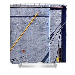 Krishna Blue Shower Curtain by Skip Hunt