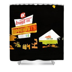 Krispy Kreme At Night Shower Curtain