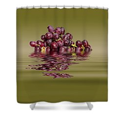 Krissy Gold Grapes To Wine Shower Curtain by David French