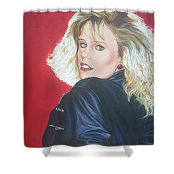 Shower Curtain featuring the painting Kristi Sommers by Bryan Bustard