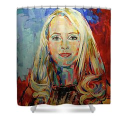 Kristina Bach Shower Curtain by Koro Arandia