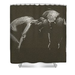 Kroki 2015 04 25 _1 Figure Drawing White Chalk Shower Curtain