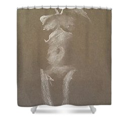 Kroki 2015 06 18_6 Figure Drawing White Chalk Shower Curtain