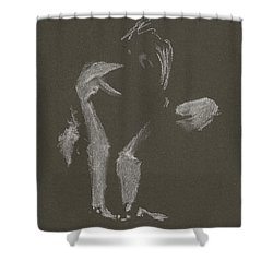 Kroki 2015 10 03_10 Figure Drawing White Chalk Shower Curtain