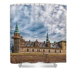Shower Curtain featuring the photograph Kronborg Castle In Denmark by Antony McAulay