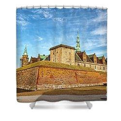 Shower Curtain featuring the photograph Kronborgsslott In Helsingor by Antony McAulay