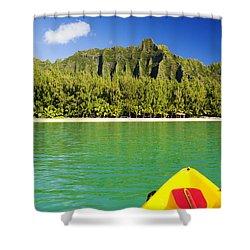 Kualoa Mountains From Kay Shower Curtain by Dana Edmunds - Printscapes