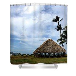 Kukulu Hale Kahului Maui Hawaii Panorama Shower Curtain by Sharon Mau