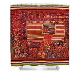 Kuna Indian Ark Shower Curtain