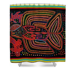 Kuna Indian Flying Fish  Shower Curtain