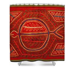 Kuna Indian Stingray Mola Shower Curtain