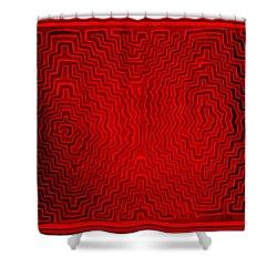Shower Curtain featuring the digital art Kuna Indian Sun Heat Rays by Vagabond Folk Art - Virginia Vivier