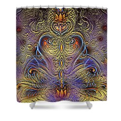 Kundalini  Shower Curtain by Harsh Malik
