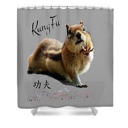 Kung Fu Chipmunk Shower Curtain