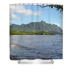 Kuoloa 1 Mountain Range Shower Curtain
