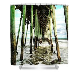 Kure Pier Shower Curtain