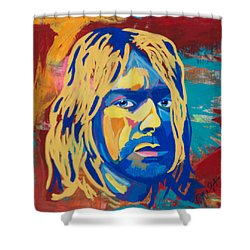 Kurt Cobain  Shower Curtain