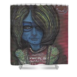 Kurt Cobalien Shower Curtain