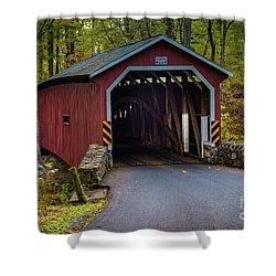 Kurtz Mill Covered Bridge Shower Curtain