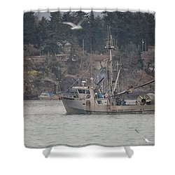 Kwiaahwah Shower Curtain by Randy Hall