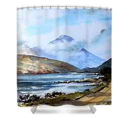 Kylemore Lough, Galway Shower Curtain