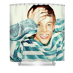 Kyle's Smile Or Fragile X Stressed Shower Curtain