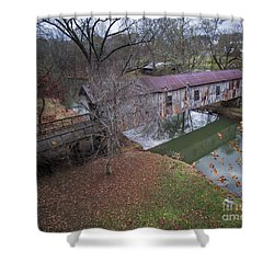 Kymulga Covered Bridge Aerial 1 Shower Curtain