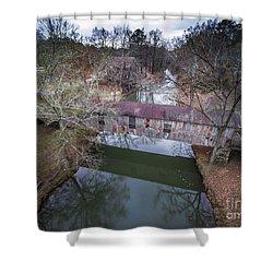 Kymulga Covered Bridge Aerial 2 Shower Curtain