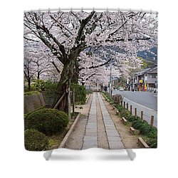 Kyoto In Bloom Shower Curtain