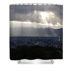 Kyoto Skyline Shower Curtain
