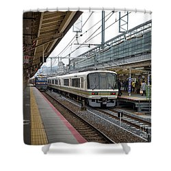 Kyoto To Osaka Train Station, Japan Shower Curtain
