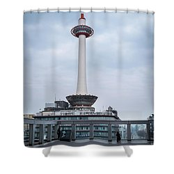 Kyoto Tower, Japan Shower Curtain