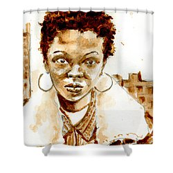L Boogie Shower Curtain by Howard Barry