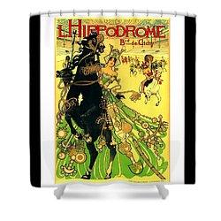 L Hippodrome 1905 Parisian Art Nouveau Poster II 1905 Shower Curtain