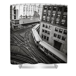 L Train In Chicago Shower Curtain