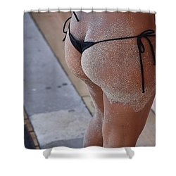 L W Thong Shower Curtain by Rob Hans