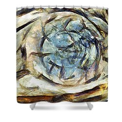 Shower Curtain featuring the painting La Beaute De L Humanite Perdue by Sir Josef - Social Critic - ART