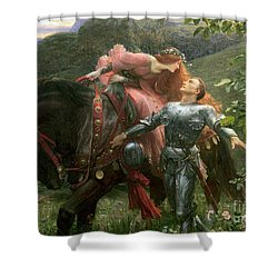 La Belle Dame Sans Merci Shower Curtain by Sir Frank Dicksee