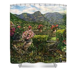 Shower Curtain featuring the painting La Belle Vence by Belinda Low