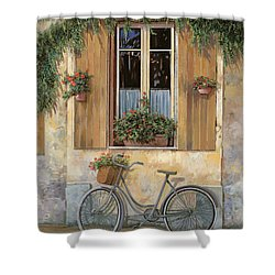La Bici Shower Curtain by Guido Borelli