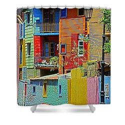 La Boca - Buenos Aires Shower Curtain by Juergen Weiss