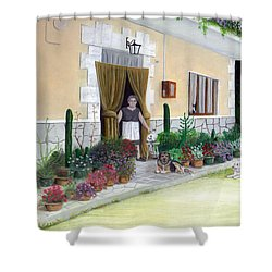 La Casa De Nonna Loreta Shower Curtain by Albert Puskaric