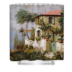 La Casa Giallo-verde Shower Curtain by Guido Borelli