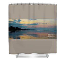 la Casita Playa Hermosa Puntarenas - Sunrise One - Painted Beach Costa Rica Panorama Shower Curtain