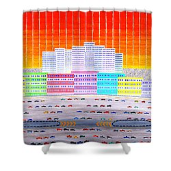 L.a. Cityscape Shower Curtain