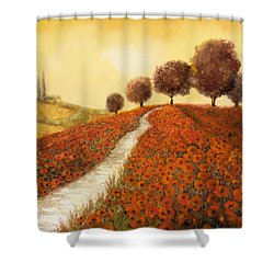 La Collina Dei Papaveri Shower Curtain